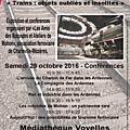 Du 25 octobre au 5 novembre 2016 : exposition et conférence de l'amr de mohon
