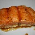 Pave de saumon au sirop d'erable