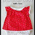 Bloomer et blouse pour bébé...