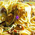 <b>Spaghettis</b> aux <b>coques</b>