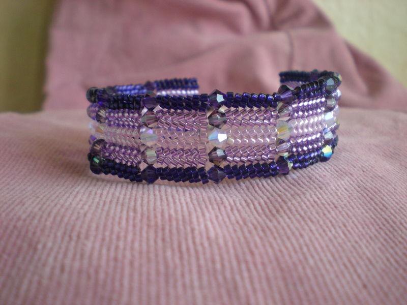 Herringbone violet (vendu)