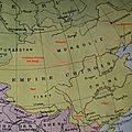 Chine - mandchourie - mongolie - tibet - turkestan oriental - yunnan - carte