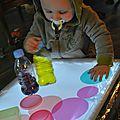 Découverte de la table lumineuse