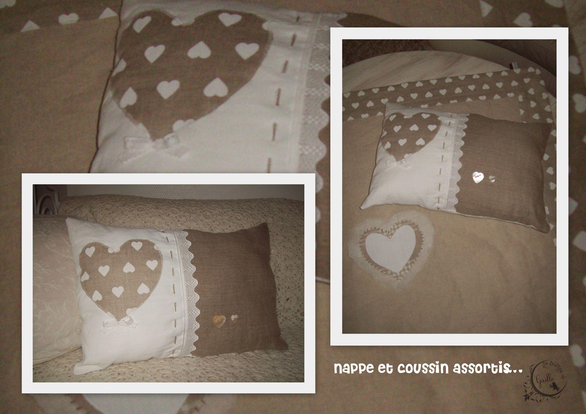 Coussin ♥ et lin...
