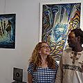 Une superbe rencontre entre deux artistes en parfaite symbiose : Mamadou <b>Cissé</b> et Christine Cosmano.