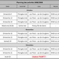 Planning des activités 2008-2009