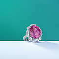 An important 18.83 carats <b>Ceylon</b> oval-shaped pink sapphire and diamond ring