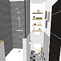 Projet client: Donner du cachet à une petite salle de bain