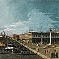 Circle of Bernardo Bellotto, Venice, a view along the molo, looking west, towards the <b>Punta</b> <b>della</b> <b>Dogana</b>