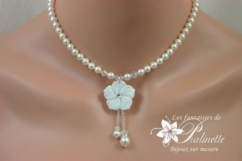 collier perle pour mariage