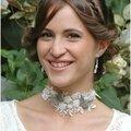 Collier dentelle perlée et papillons mordorés pour mariée bohème romantique chic ou lolita perlaminette