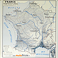 <b>Collection</b> ... CARTE FRANCE Températures / Hydrographie