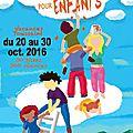 Festival du <b>film</b> pour <b>enfants</b> 2016 - du 20 au 30 octobre - Espace Aragon, Villard-Bonnot et Jeu de Paume, Vizille