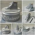 Decoration theme basket converse