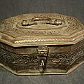 Ancienne Boite à Bétel Cuivre Étamé Perse Persane Antique Persian Engraved Betel Copper Tin Box
