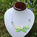 Nouveau stage de 2 jours d'août: collier en wire et fleur et bracelet demi manchette effet patchwork
