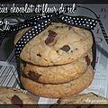 Cookies chocolat fleur de sel de lili
