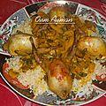 Cailles farcies au riz