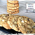 Cookies aux 3 <b>chocolats</b>