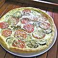 Tarte tomates courgettes