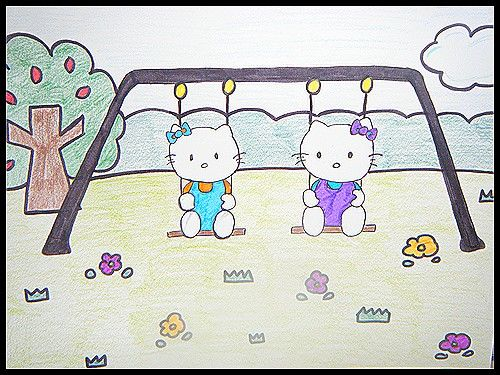 Dessin Hello Kitty .