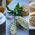 Moelleux courgettes, basilic et huile d'olive