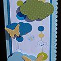 16. bleu, vert et jaune - nuages et papillons
