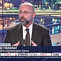 INTERVIEW COMMUNICATION DE FREDERIC FOUGERAT SUR <b>BFM</b> <b>BUSINESS</b>