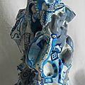 Hervé THAREL - SCHMIMBLOCK'S chatô 2013 - gouache T7 sur argile 23x14cm 4
