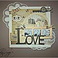 Un cadre love .... toujours pour la déco du salon...
