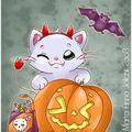 Le chaton d'halloween