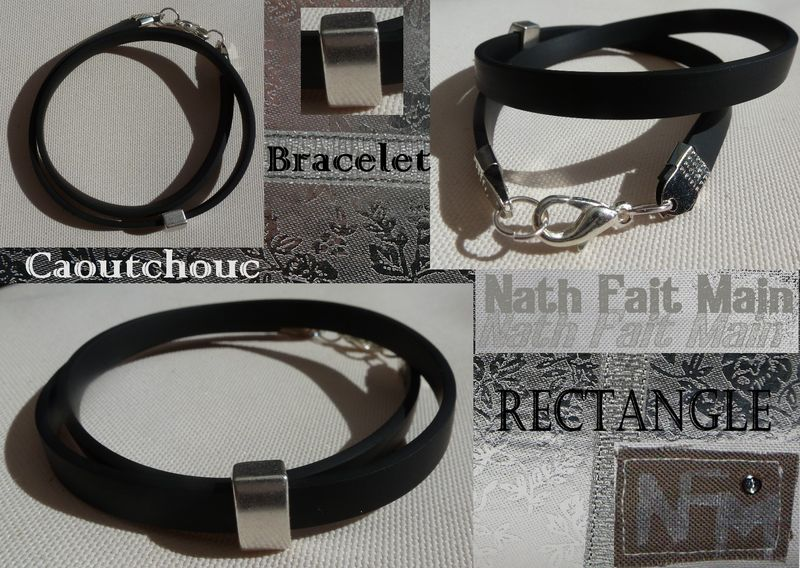 Bracelet Caoutchouc rectangle