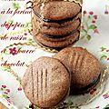 Sablés à la farine de pépins de raisin, fourrés chocolat