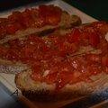 Apéro: bruschetta à la tomate (bataille food 7)