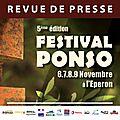Revue de presse Ponso 2014