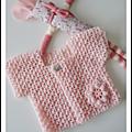 Avanlanche de layette rose pastel au crochet