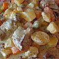 Sauté de porc et ses petits légumes, sauce coco