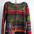 Pull embelli au lacet roumain au crochet: