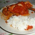 Poulet a la tomate et au miel