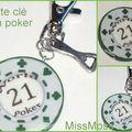 Porte clé jeton de poker verso