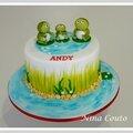 Gâteau anniversaire grenouilles - nîmes