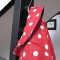 Manteau MARGUERITE - Manteau trapèze à pli creux dans le dos et double boutonnage devant - Il est également fermé par un joli noeud très féminin - Col rond (3)