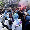 Paris : infirmiers, étudiants et retraités…