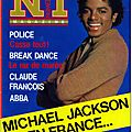 Michael jackson en france - numéro 1, avril 1984