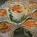 Oeufs cocottes aux épinards dans la yaourtière