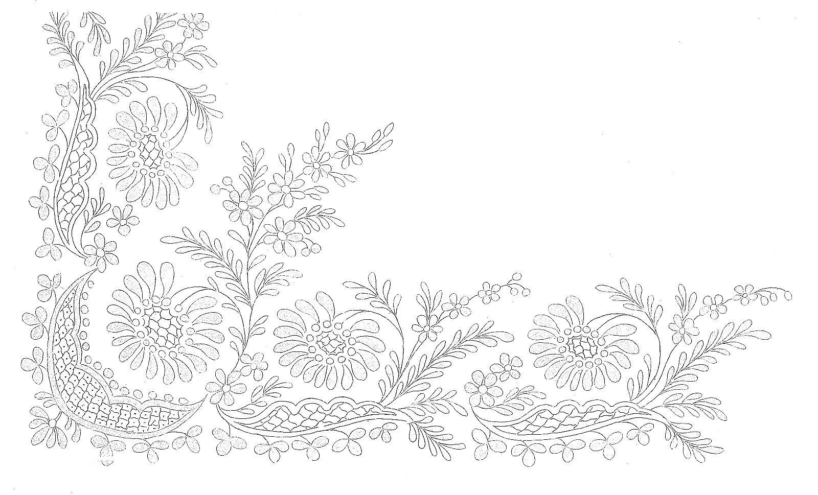 1812 Regency Needlework Pattern 2 Feb