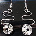 Boucles d'oreilles wire spirale