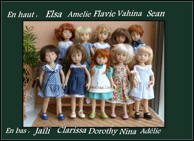 boneka en tenues d'été