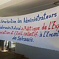 Sit-in de la coordination des administrateurs sahraouis expatriés devant le ministère de l'intérieur (video)