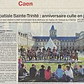 18 juin 2016: 950ème anniversaire de la fondation de l'abbaye aux dames de caen